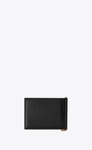 tiny monogram bill clip wallet in shiny leather