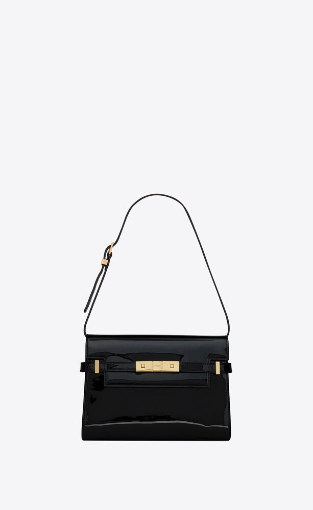 manhattan small shoulder bag in patent leather