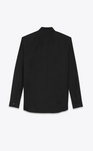 yves collar shirt in cotton poplin