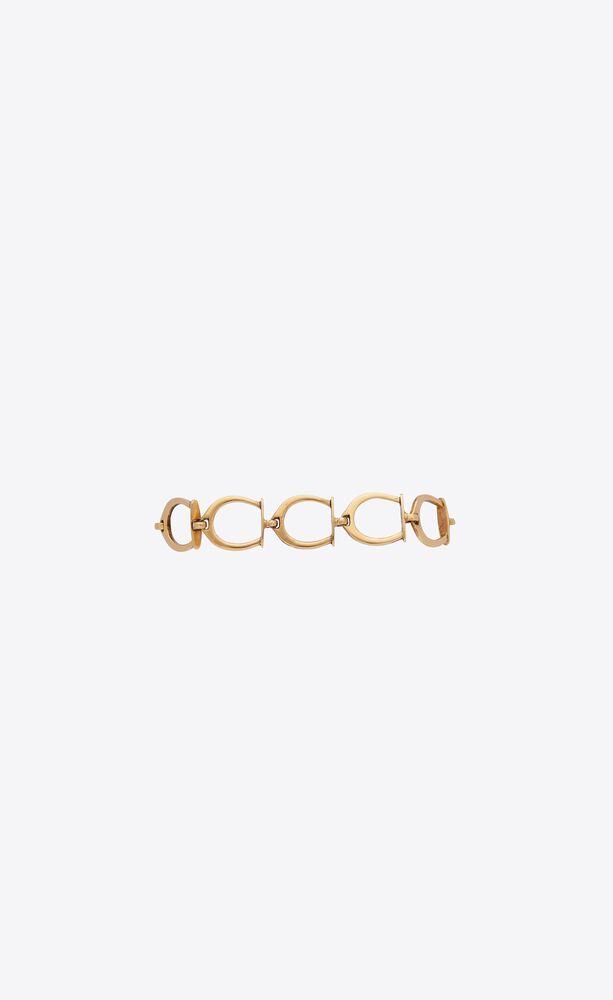 stirrup charms bracelet in metal