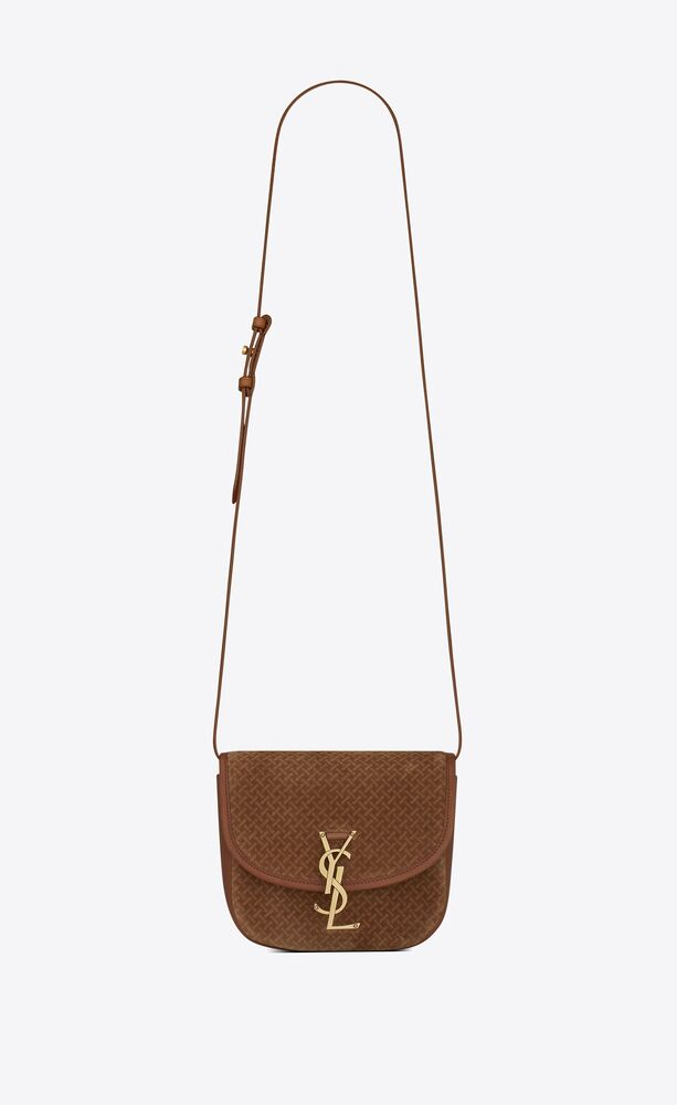 kaia small satchel in suede with braid motif