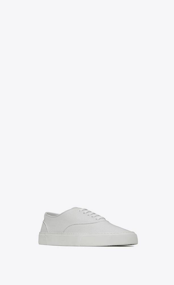 venice sneakers in perforated grained leather