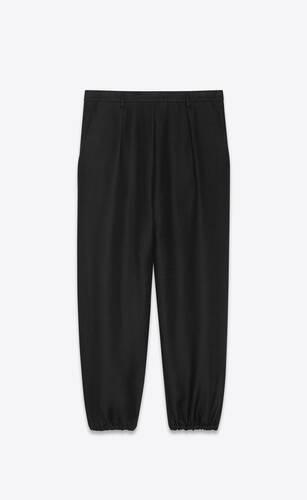 hakama-pleat pants in linen and cotton