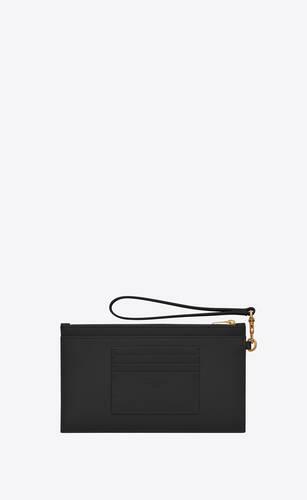 large monogram bill pouch in grain de poudre embossed leather