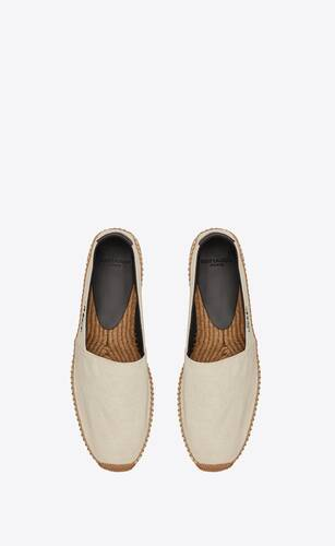 saint laurent embroidered espadrilles in canvas