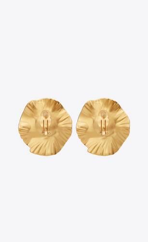 héritage radiating sun earrings in crystal and metal
