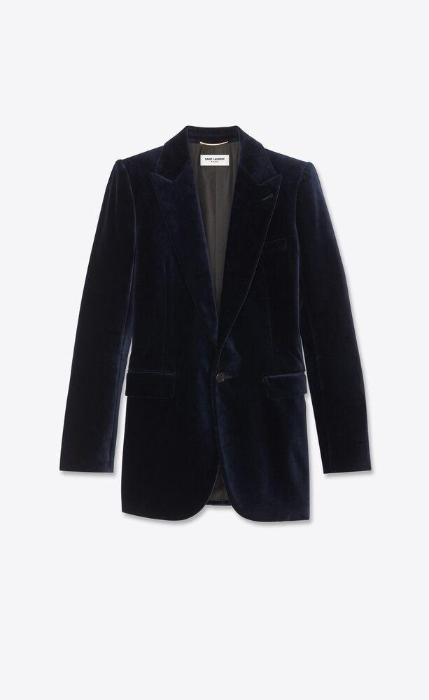 single-breasted jacket in velvet
