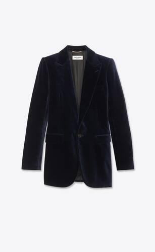 veste à boutonnage simple en velours