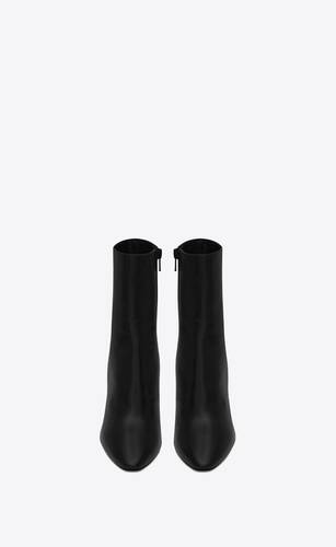 68 booties in smooth leather
