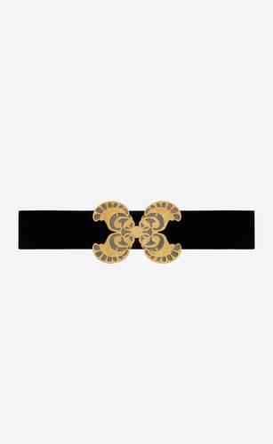 butterfly buckle belt in suede