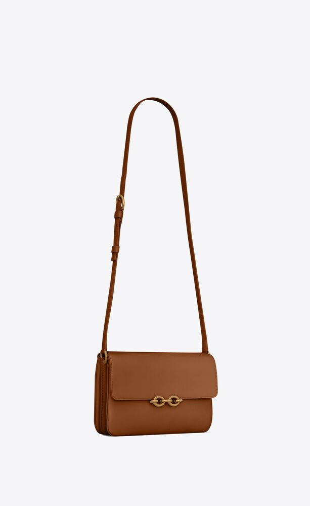 le maillon satchel in smooth leather