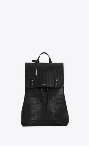 sac de jour backpack in crocodile embossed leather