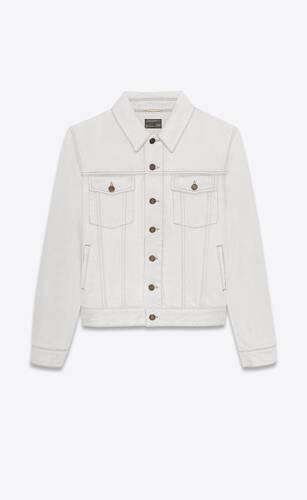 boyfriend jacket in gray off-white denim