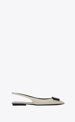 anaïs slingback flats in smooth and patent leather