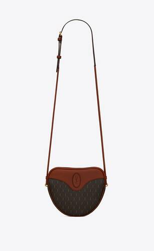le monogramme cœur bag in canvas and smooth leather