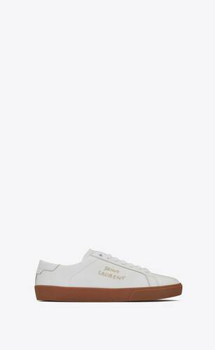 court classic sl/06 embroidered sneakers in smooth leather