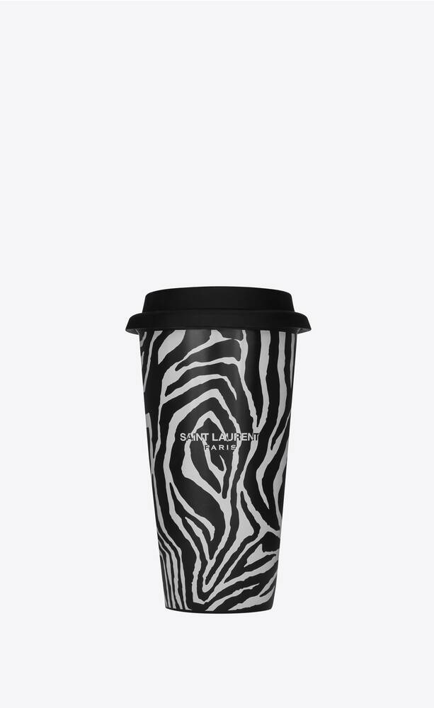 zebra print coffee mug in ceramic