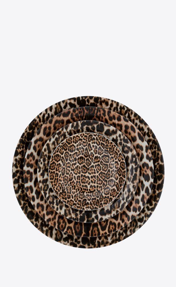 jl coquet leopard printed plates