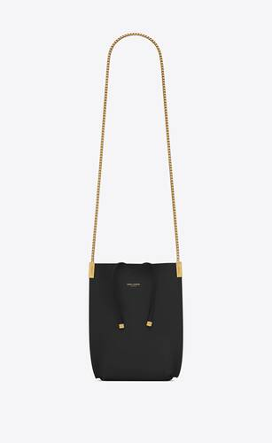 suzanne mini hobo bag in smooth leather