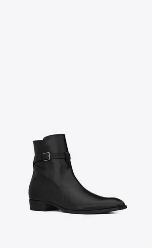 エディ 30 ジョードプル ブーツ(ブラック/レザー)