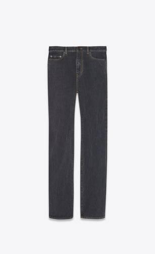 hoch geschnittene jeans im stil der 90er aus denim in charcoal grey.