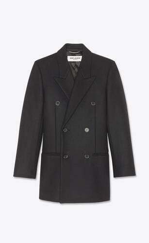 abrigo sastre con doble botonadura de fieltro de lana