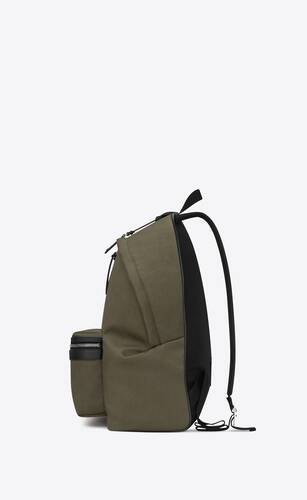 city backpack in cotton canvas