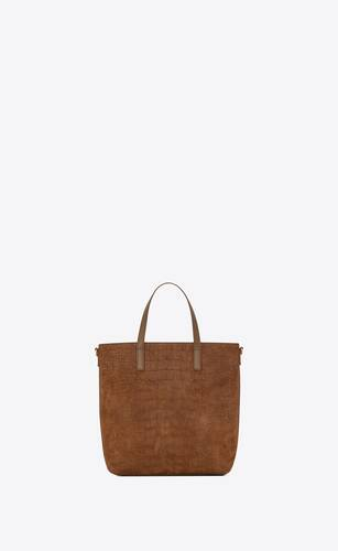 shopping bag saint laurent n/s toy in suede di coccodrillo goffrata e morbida pelle
