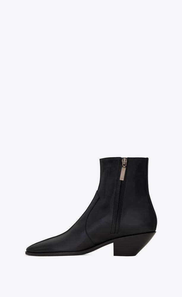 west zipped boots in smooth leather