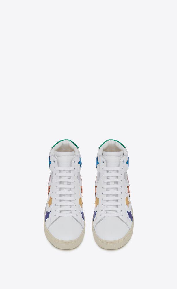 sneakers medie court classic sl/06 metallic california in pelle