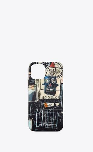 coque d'iphone 12 pro à imprimé jean-michel basquiat