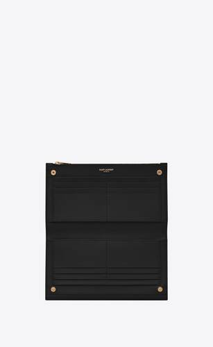 uptown large wallet in grain de poudre embossed leather