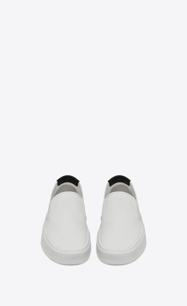 sneakers sin cordones venice de lona y piel