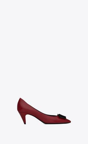 anaïs bow pumps in smooth and patent leather