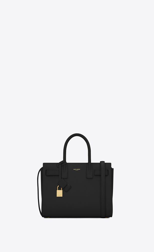 baby sac de jour tasche aus schwarzem leder
