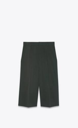 baggy bermuda shorts in wool twill
