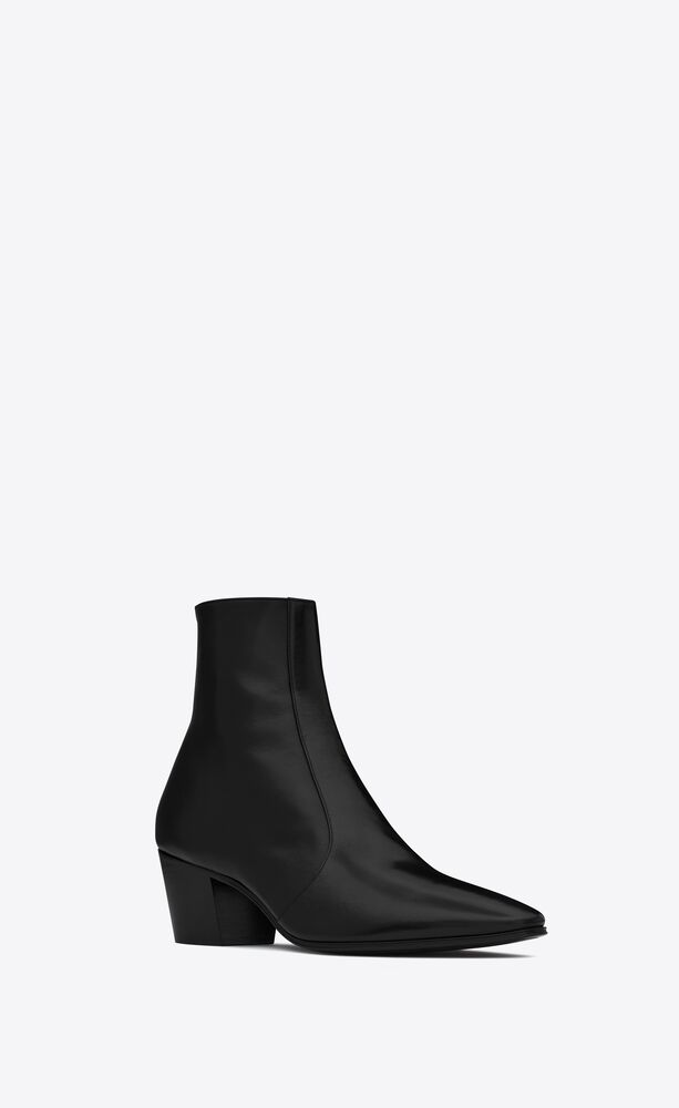 vassili zipped boots in smooth leather