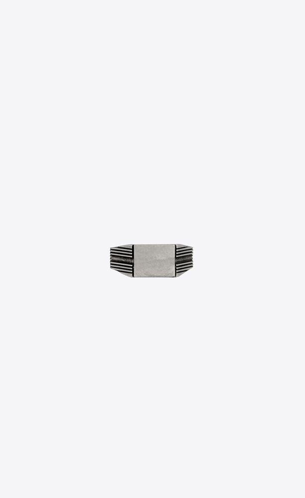 anillo de sello de metal