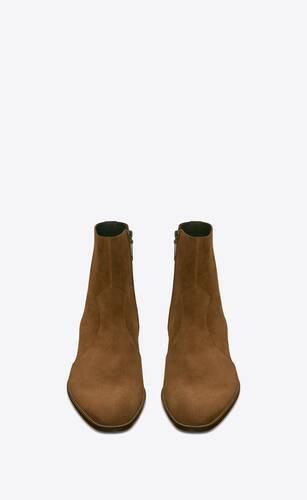wyatt zipped boots in suede