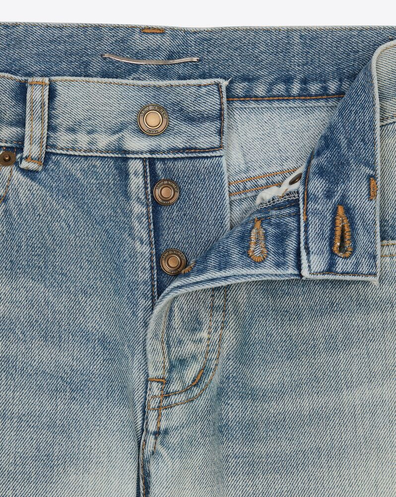 slim-fit jeans in 80's vintage blue denim