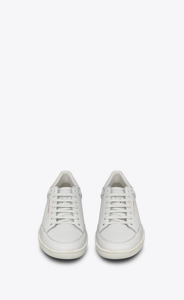 court classic sl/10 sneakers in perforated and smooth leather