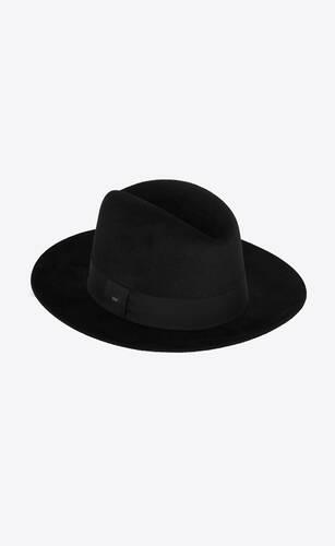 sombrero fedora de fieltro de conejo
