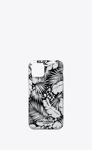 iphone 11 pro case in tropical printed silicone