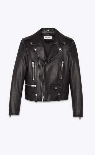 motorcycle jacket in plunged lambskin