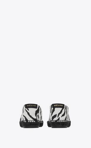 espadrilles in zebra-print canvas