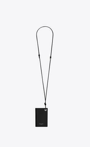 saint laurent flip card case in smooth calfskin and matte nappa leather