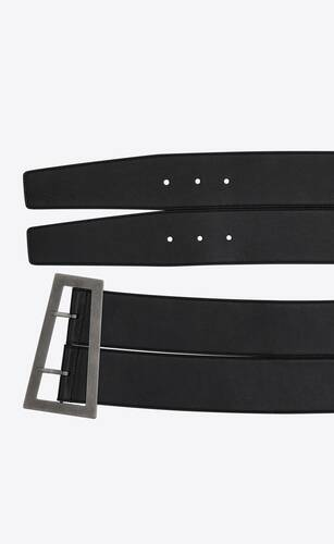 stacked trapezoid  corset belt in smooth leather