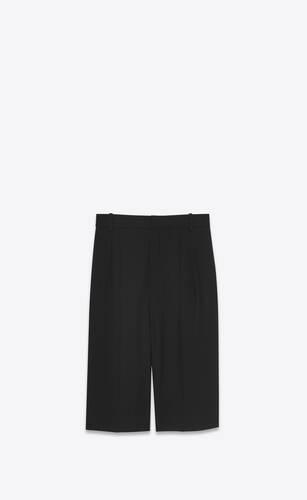 tailored bermuda shorts in wool twill