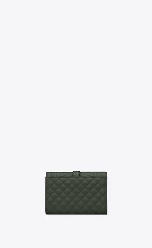 monogram small envelope wallet in mix matelassé grain de poudre embossed leather