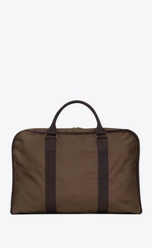 nylon duffle bag in nylon and cotton